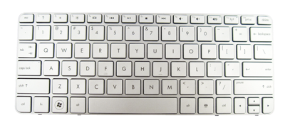 Replacement laptop keyboard HP COMPAQ Mini 210-2000 210-3000 210-4000 (SILVER)